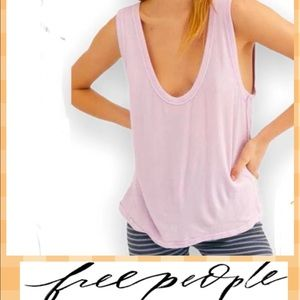 Free People Take the Plunge  V-Neck Jersey Tank M